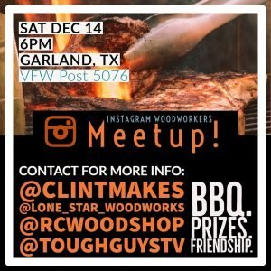 Info about Dec 14 Woodworker Meetup