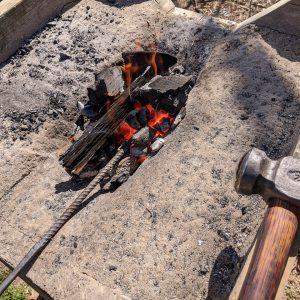 Building a back-yard forge